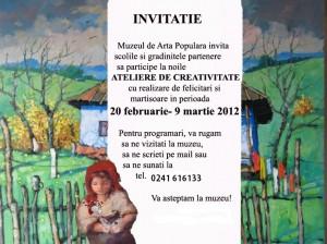 Invitatie Ateliere de Martisor